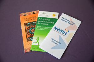 Mount Isa NWRH consult Room, Available information pamphlets,